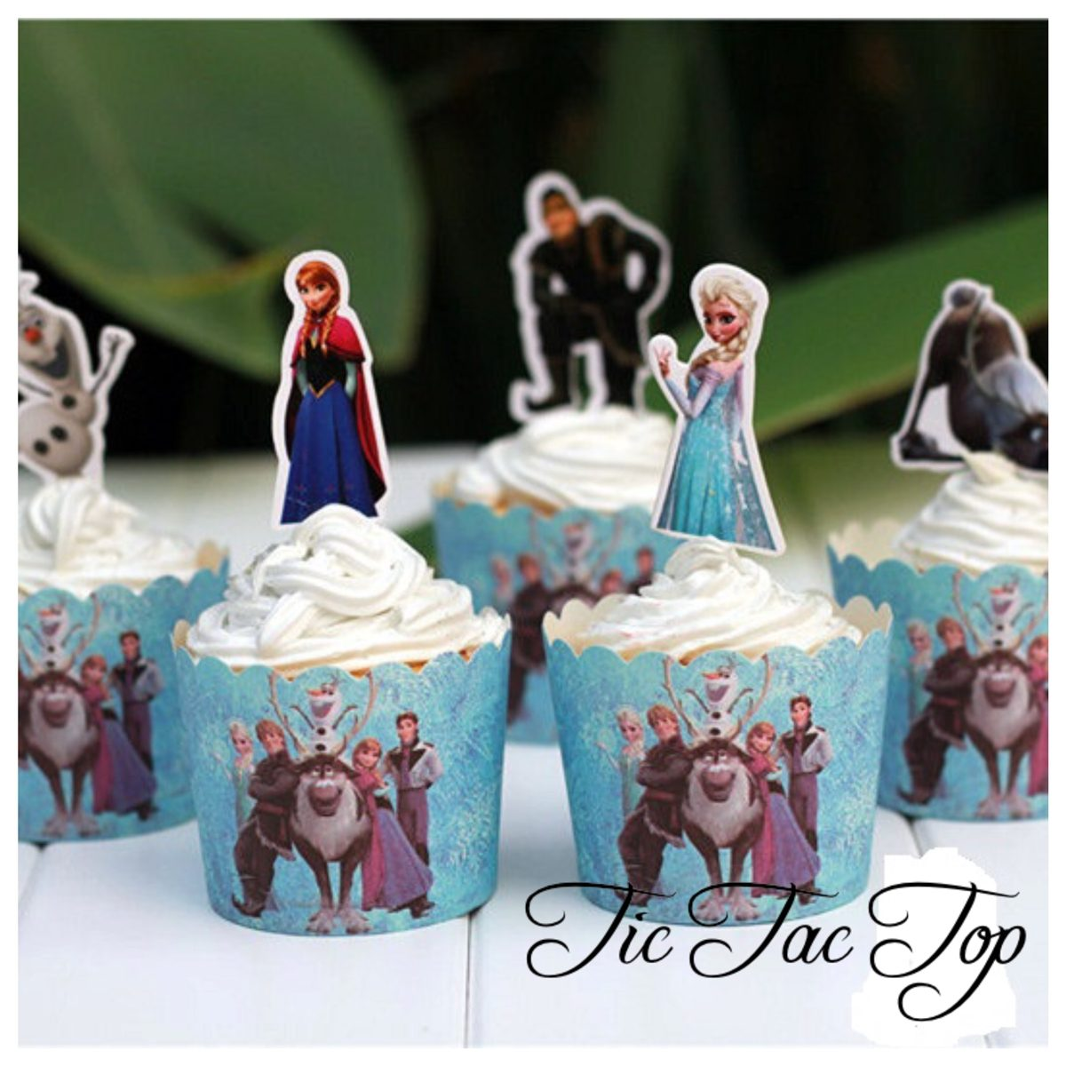 Frozen Muffin Case + Toppers - 12/set