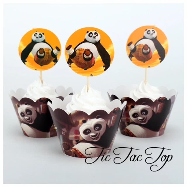 Kung Fu Panda Cupcake Wrappers + Toppers