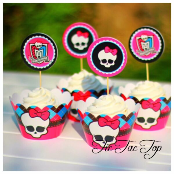Monster High Cupcake Wrappers + Toppers