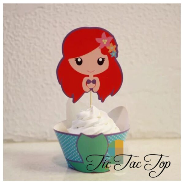 The Little Mermaid SPECIAL EDITION Cupcake Wrappers + Toppers