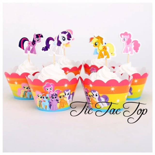 My Little Pony Cupcake Wrappers + Toppers