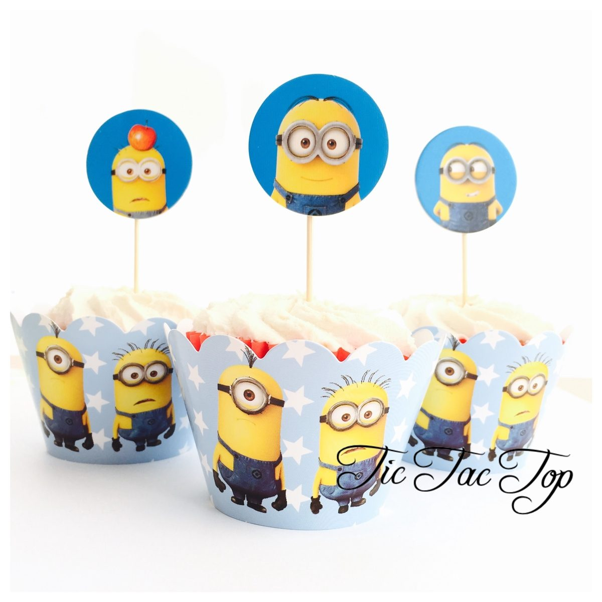Minions Despicable Me Wrappers + Toppers