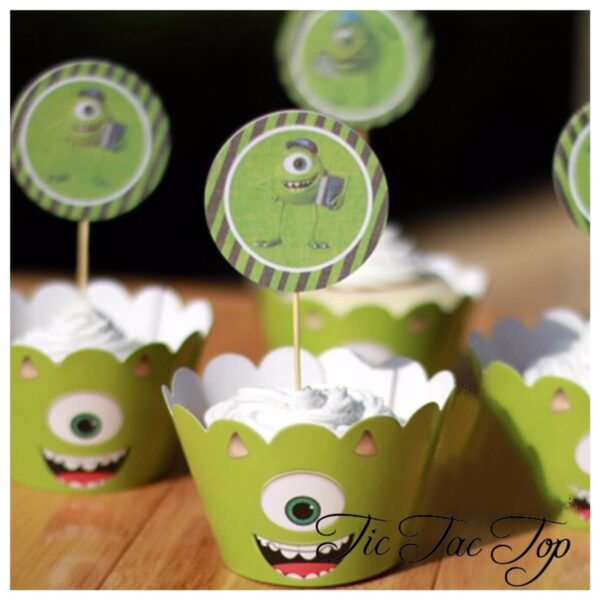 Monster University Inc Cupcake Wrappers + Toppers