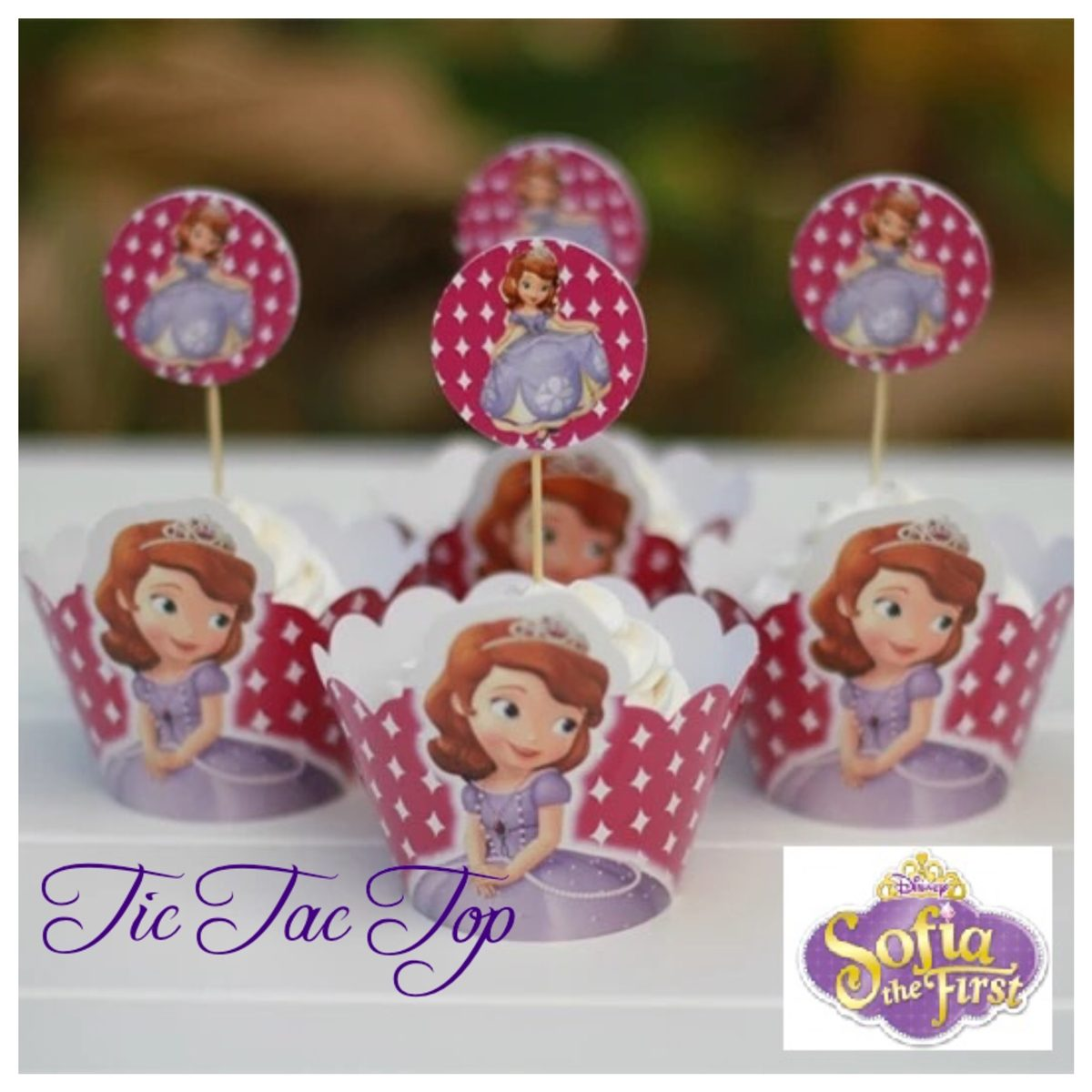 Sofia The First Princess Cupcake Wrappers + Toppers