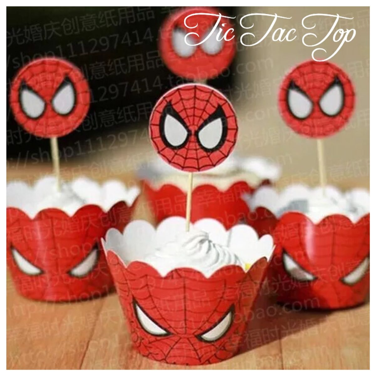 Spiderman Vs Black Spiderman Cupcake Wrappers + Toppers