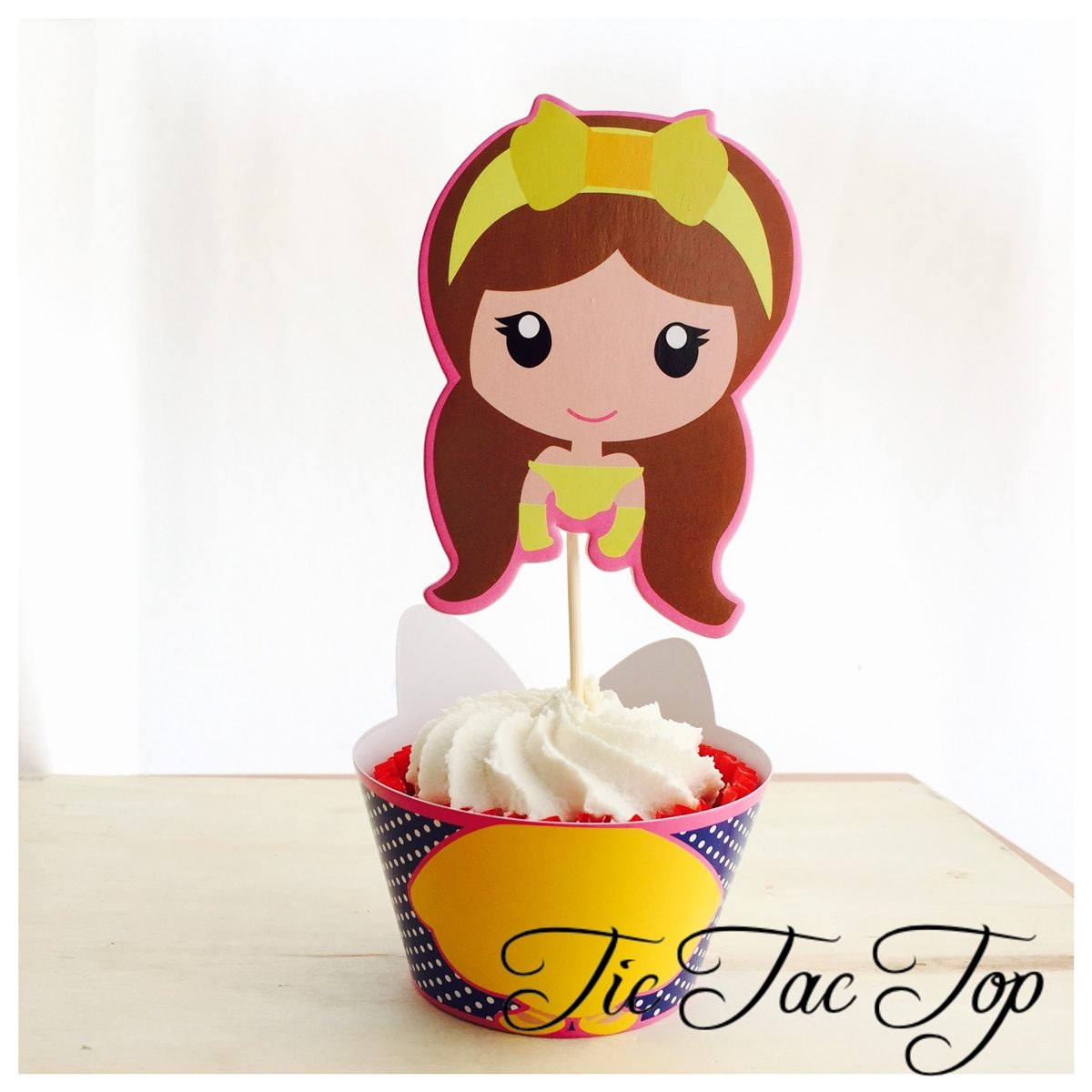 Disney Princesses Cupcake Wrappers + SUPER BIG Toppers