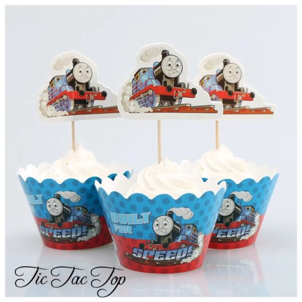 Thomas Built For Speed Cupcake Wrappers + Toppers